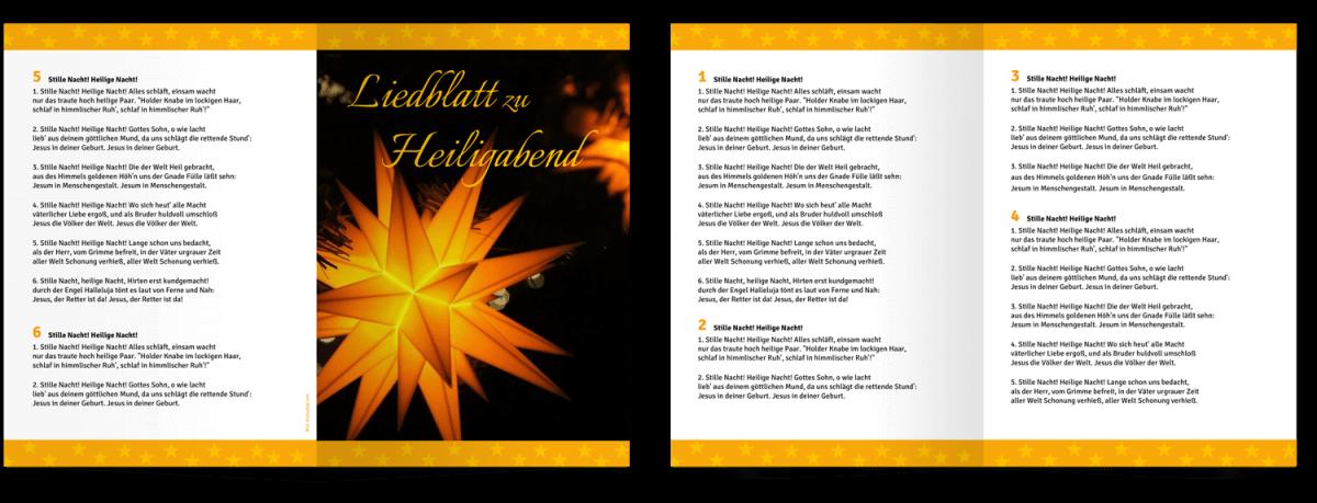 Liedblätter zur Advents- und Weihnachtszeit – Gemeindebriefhelfer