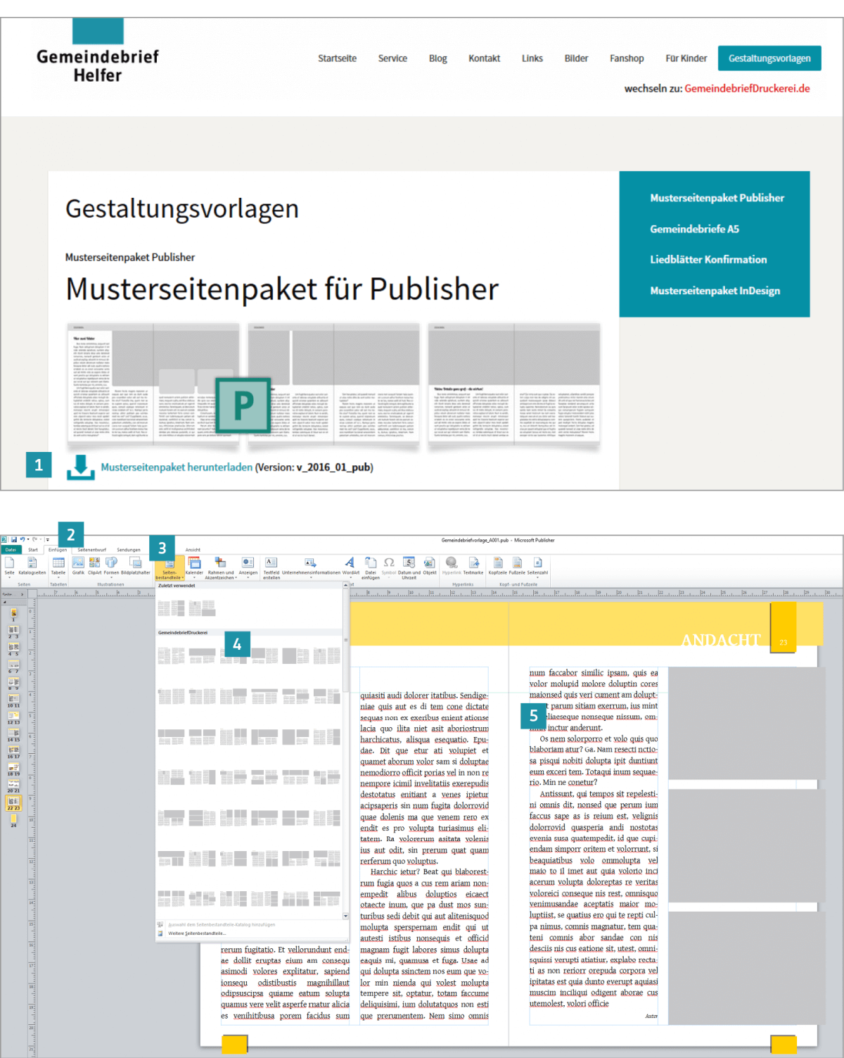 Berühmt Microsoft Publisher Programmvorlagen Bilder - Entry Level ...