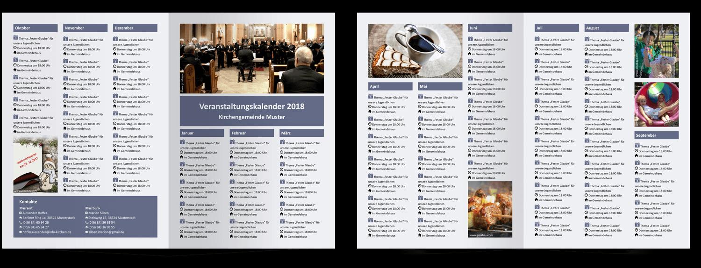 Vorlagen für Veranstaltungskalender – Gemeindebriefhelfer