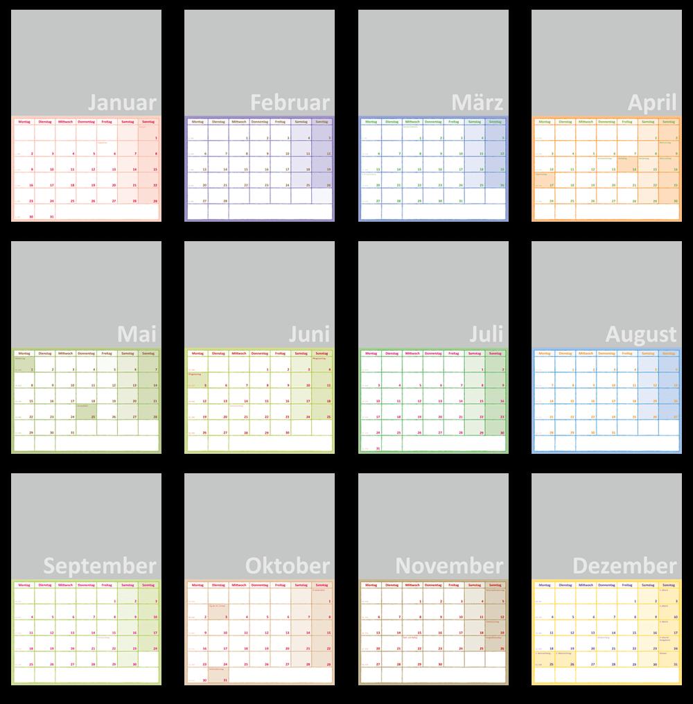 Kalendervorlagen 2018 – Gemeindebriefhelfer